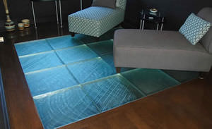 panel de vidrio decorado / para forjado / de alta resistencia / translúcido