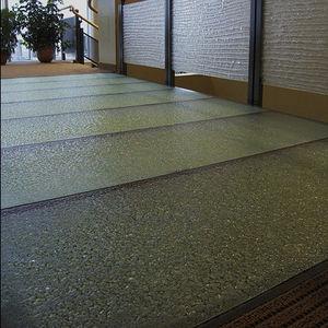 suelo técnico de vidrio / de alta resistencia / acústico / antideslizante