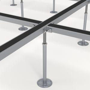 estructura para suelo técnico de metal