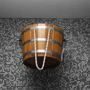 ducha cascada / de madera / para centro de spa / cubo