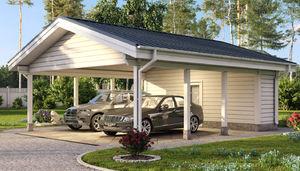 cubierta para aparcamiento de madera maciza