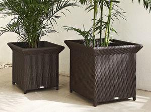 maceta de jardín de aluminio / rectangular / cuadrada
