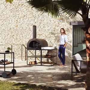 forno para pizzas para uso residencial / de leña / colocación libre / con 1 cámara