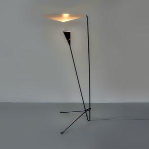 lámpara de pie / contemporánea / de aluminio / de acero