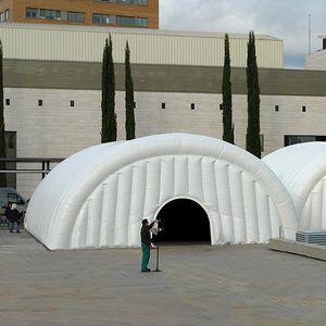 estructura hinchable para instalación deportiva