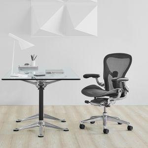 sillón de oficina contemporáneo / en malla / de metal / con ruedas