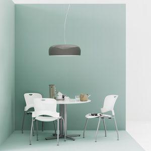 silla de visita contemporánea / con reposabrazos / apilable / con mesita