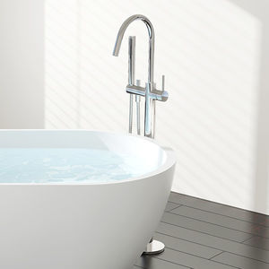 grifo monomando para lavabo / para bañera / para suelo / de latón cromado