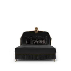 cama extragrande / queen size / de estilo / tapizada