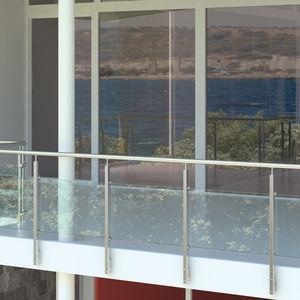 barandilla de acero inoxidable / con paneles de vidrio / de exterior / para terraza