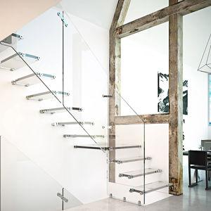 escalera recta / en L / en U / con peldaños de vidrio