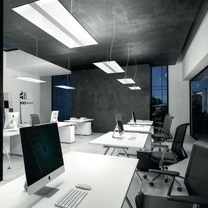 luminaria suspendida / LED / rectangular / de aluminio extruido