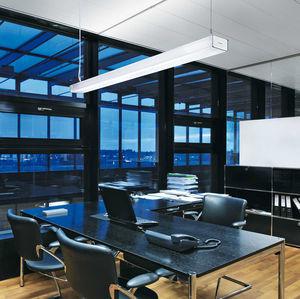 luminaria suspendida / LED / lineal / de aluminio extruido
