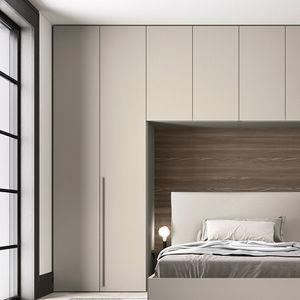 armario modular / contemporáneo / de melamina / con puertas batientes