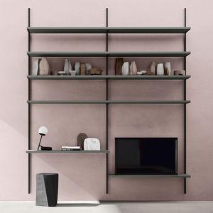 mueble de televisión contemporáneo / modular / de melamina