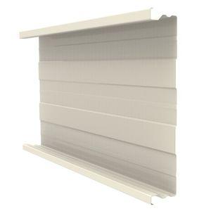 revestimiento de fachada de paneles / en chapas / acanalado / con junta alzada