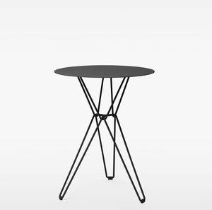 mesa alta contemporánea / de roble / de acero galvanizado / de hilo de metal
