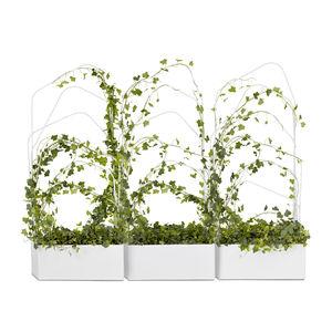 maceta de jardín de metal / rectangular / con enrejado