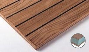 panel sándwich para pavimento / para forjado / cara de madera / alma de poliestireno