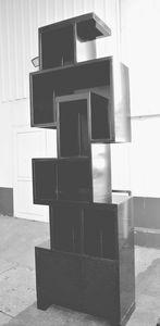 biblioteca de diseño industrial / de acero / en chapas / a medida