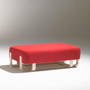 banqueta contemporánea / de tejido / de madera / para hotel