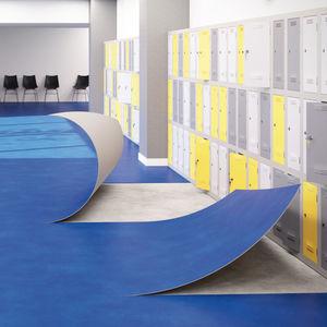 pavimento acústico / de vinilo / para el sector servicios / en rollo