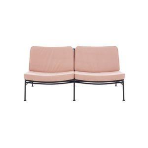 sofá contemporáneo / de exterior / de tejido / aluminio