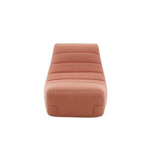 silla contemporánea / tapizada / de tejido / rosa