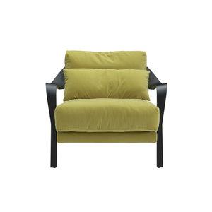 sillón contemporáneo / de tejido / de haya / aluminio