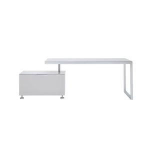 escritorio de roble / de madera lacada / de roble natural / de acero