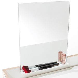 espejo de sobremesa / contemporáneo / rectangular / de acero
