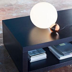 lámpara de mesa / contemporánea / de aluminio / de vidrio soplado