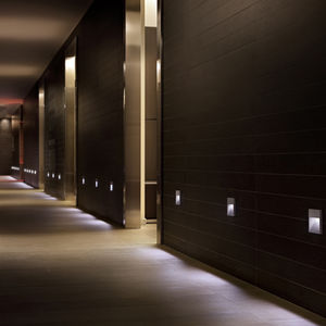 luminaria empotrable de pared / LED / cuadrada / de exterior