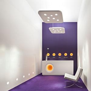luminaria suspendida / fluorescente / halógena / cuadrada