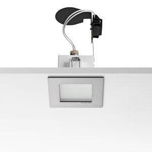downlight empotrable de techo / halógeno / cuadrado / de aluminio fundido