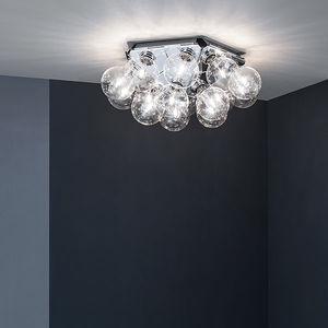 plafón contemporáneo / de acero / de aluminio pulido / LED