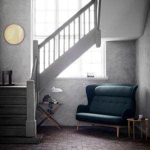 sofá contemporáneo / de tejido / de madera / de aluminio pulido