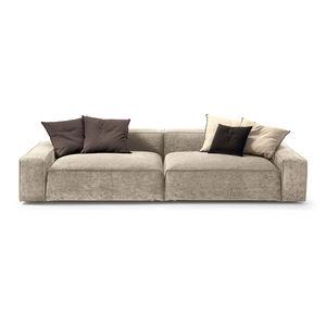 sofá modular / contemporáneo / de tejido / de cuero