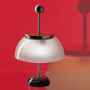 lámpara de mesa / clásica / de metal / de vidrio