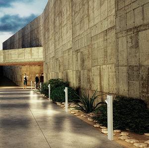 bolardo de iluminación de jardín / urbano / contemporáneo / de aluminio fundido