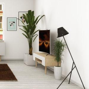 mueble de televisión contemporáneo / de contrachapado / de abedul