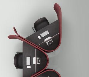 escritorio para open space / de material laminado / contemporáneo / para el sector servicios