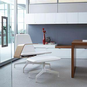 sillón de oficina contemporáneo / de tejido / aluminio / de madera