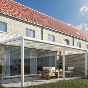 marquesina para terraza / de aluminio / autoportante