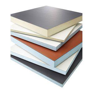 panel sándwich aislante para techado / 2 caras de aluminio / alma aislante / alma de poliestireno expandido