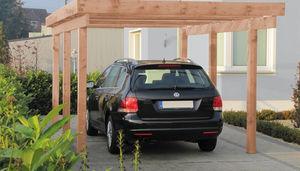 cubierta para aparcamiento de madera