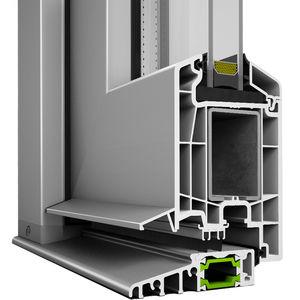 perfil para puerta de PVC / de aluminio / con aislamiento térmico / estanco