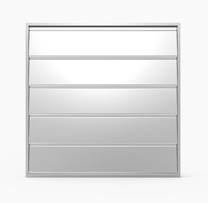 compuerta de ventilación de aluminio