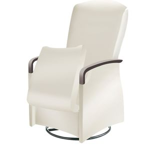 sillón médico de cuero artificial / blanco