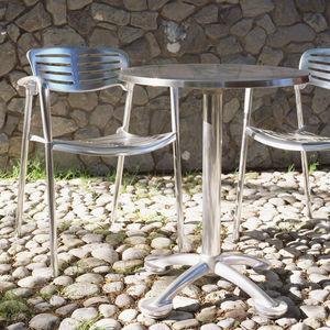 silla contemporánea / apilable / con reposabrazos / ecoetiqueta GreenGuard®